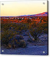 Panorama Morning View Of Mountains Acrylic Print