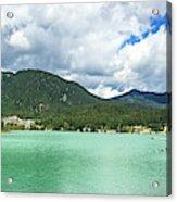 Panorama Of Green Lake, Whistler Acrylic Print
