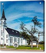 Panorama Of Sts. Cyril And Methodius Catholic Church - Dubina Texas Acrylic Print