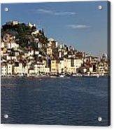 Panorama Of Old Croatian City Sibenik Acrylic Print