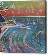 Panorama Of Pch At Big Sur Acrylic Print