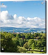 Panorama Of Phoenix Park And Wicklow Mountains Acrylic Print