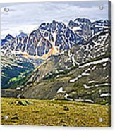 Panorama Of Rocky Mountains In Jasper National Park Acrylic Print