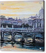 Panorama Of Rome Acrylic Print