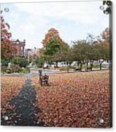 Panorama Of Taylor Park St Albans Vermont Acrylic Print
