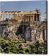Panorama Of The Acropolis In Athens Acrylic Print