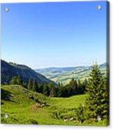Panorama Of The Appenzeller Hills Near Mount Saentis Switzerland Acrylic Print