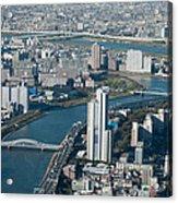 Panorama Of Tokyo Acrylic Print