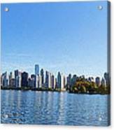 Panorama Of Vancouver Harbor Acrylic Print by Jodi Jacobson