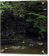 Panorama Of Wolf Creek At Letchworth State Park Acrylic Print