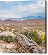 Panorama Point - La Sal Mountains - Arches National Park - Ut Acrylic Print
