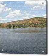 Panorama Red House Lake Allegany State Park Acrylic Print