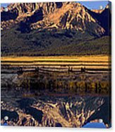 Panorama Reflections Sawtooth Mountains Nra Idaho Acrylic Print
