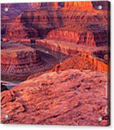 Panorama Sunrise At Dead Horse Point Utah Acrylic Print