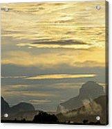 Panorama Sunset Aparaman And Towyen Tepuis Kavak Venezuela Acrylic Print