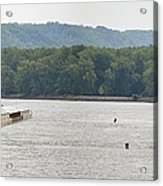 Panoramic Barge Acrylic Print