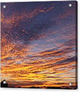 Panoramic Hill Country Sunset Acrylic Print