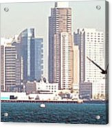 Panoramic Image Of San Diego From The Harbor Acrylic Print