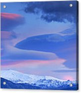 Panoramic Lenticular Clouds Over Sierra Nevada National Park Acrylic Print