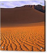 Panoramic Mesquite Sand Dune Patterns Death Valley National Park Acrylic Print