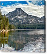 Panoramic Of Anthony Lake Acrylic Print