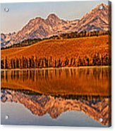 Panoramic Of Little Redfish Lake Acrylic Print