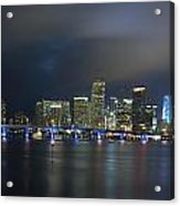 Panoramic Of Miami Florida Acrylic Print
