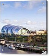 Panoramic Of Newcastle And Gateshead Quayside Acrylic Print