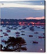 Panoramic Of The Marblehead Illumination Acrylic Print by Jeff Folger
