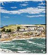 Panoramic Photo Of Bare Island Bridge Acrylic Print