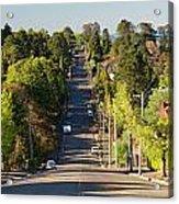 Panoramic Photo Of Katoomba Street Acrylic Print