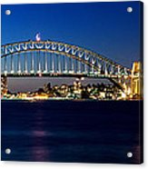 Panoramic Photo Of Sydney Night Scenery Acrylic Print
