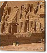 Panoramic Photograph Of Famous Egyptian Monument Acrylic Print