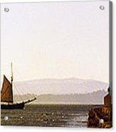 Panoramic Puget Sound Schooner 2 Washington Acrylic Print