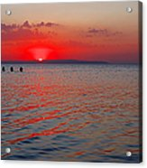 Panoramic Summer Sunset Acrylic Print