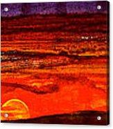 Panoramic Sunset Painting Acrylic Print