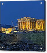 Panoramic View Of Acropolis Of Athens Acrylic Print