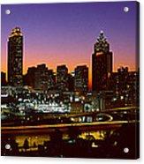 Panoramic View Of Atlanta Skyline Acrylic Print
