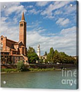 Panoramic View Of Dominican Church Of Sant'anastasia In Verona Acrylic Print