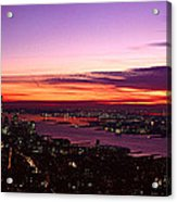 Panoramic View Of Empire State Acrylic Print