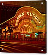 Panoramic View Of Golden Nugget Casino Acrylic Print