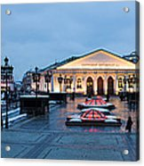 Panoramic View Of Moscow Manege Square And And Central Exhibition Hall - Featured 3 Acrylic Print