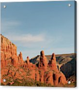 Panoramic View Of Red-rock Mountains Acrylic Print