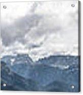 Panoramic View Of San Pellegrino Pass Acrylic Print