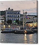 Panoramic View Of Spetses Town Acrylic Print