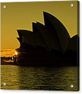 Panoramic View Of Sunrise At Sydney Opera House Acrylic Print
