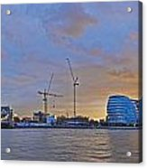 Panoramic View Of The Shard, City Hall Acrylic Print