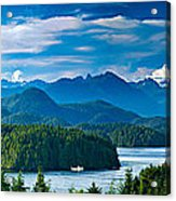 Panoramic View Of Tofino Vancouver Island Canada Acrylic Print