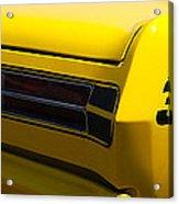 Panoramic Yellow Duster Acrylic Print