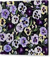 Pansy Faces Acrylic Print